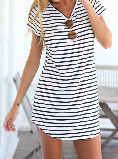 Tanger Outlet_striped dress