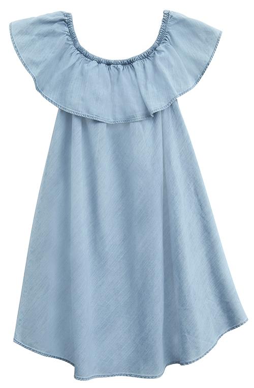 Tanger Outlets Express Factory Outlet denim off the shoulder dress