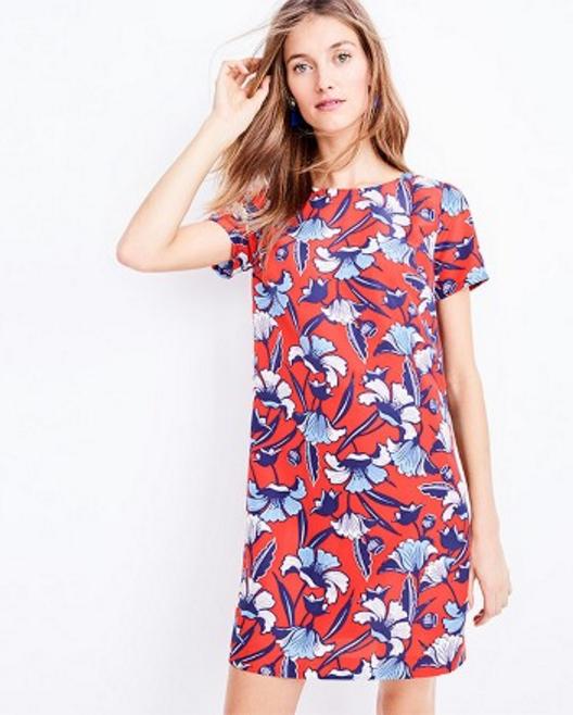 Tanger Outlets J.Crew Factory floral Shift Dress