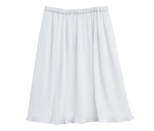 Tanger Outlets Banana Republic Factory Store white pleated skirt