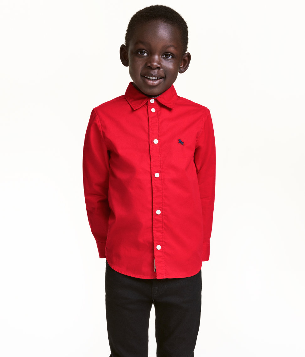 Tanger Outlet H&M red cotton shirt