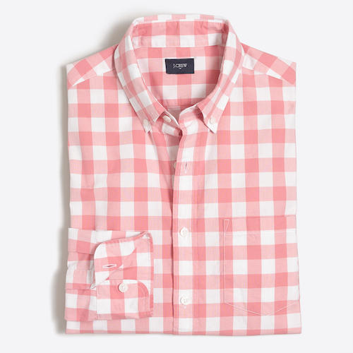 Tanger Outlets J.Crew Factory red gingham button down