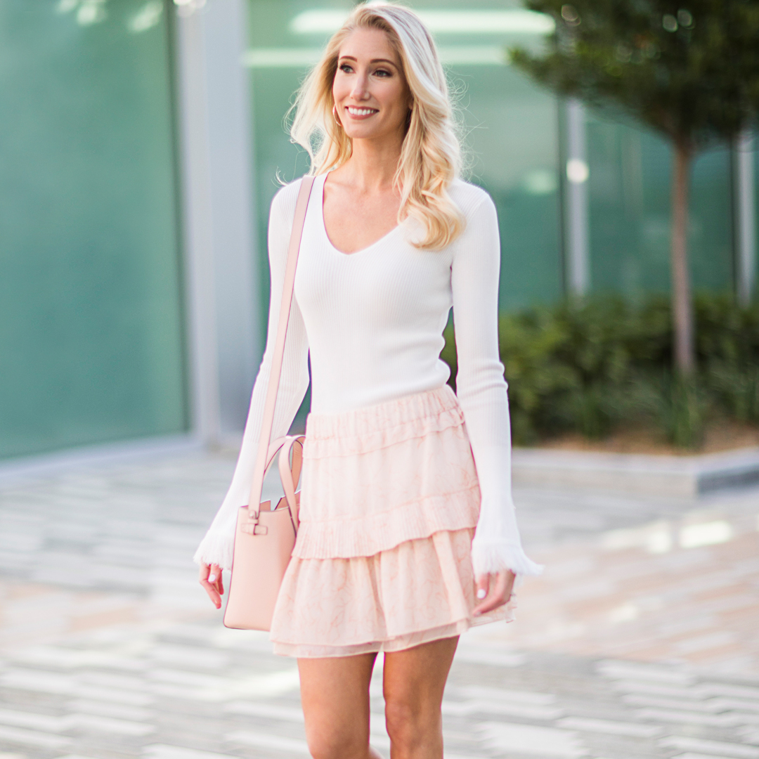 Tanger Outlets blush look