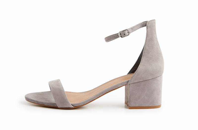 Tanger Outlets gray suede heels
