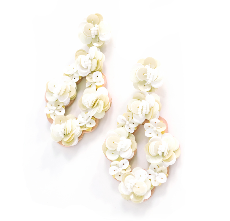Tanger Outlets floral earrings