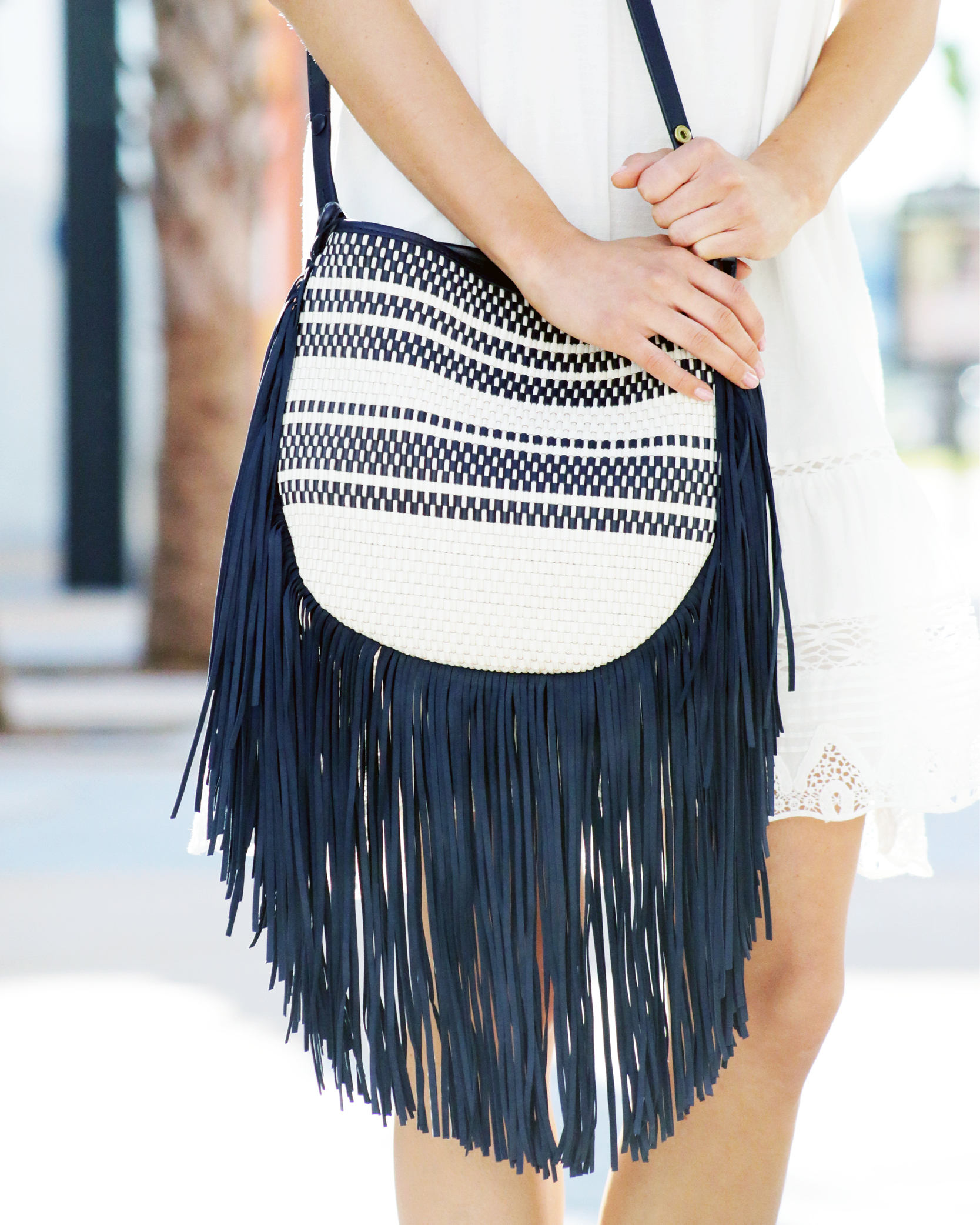 Tanger Outlets Saks OFF 5th Tory Burch fringe bag