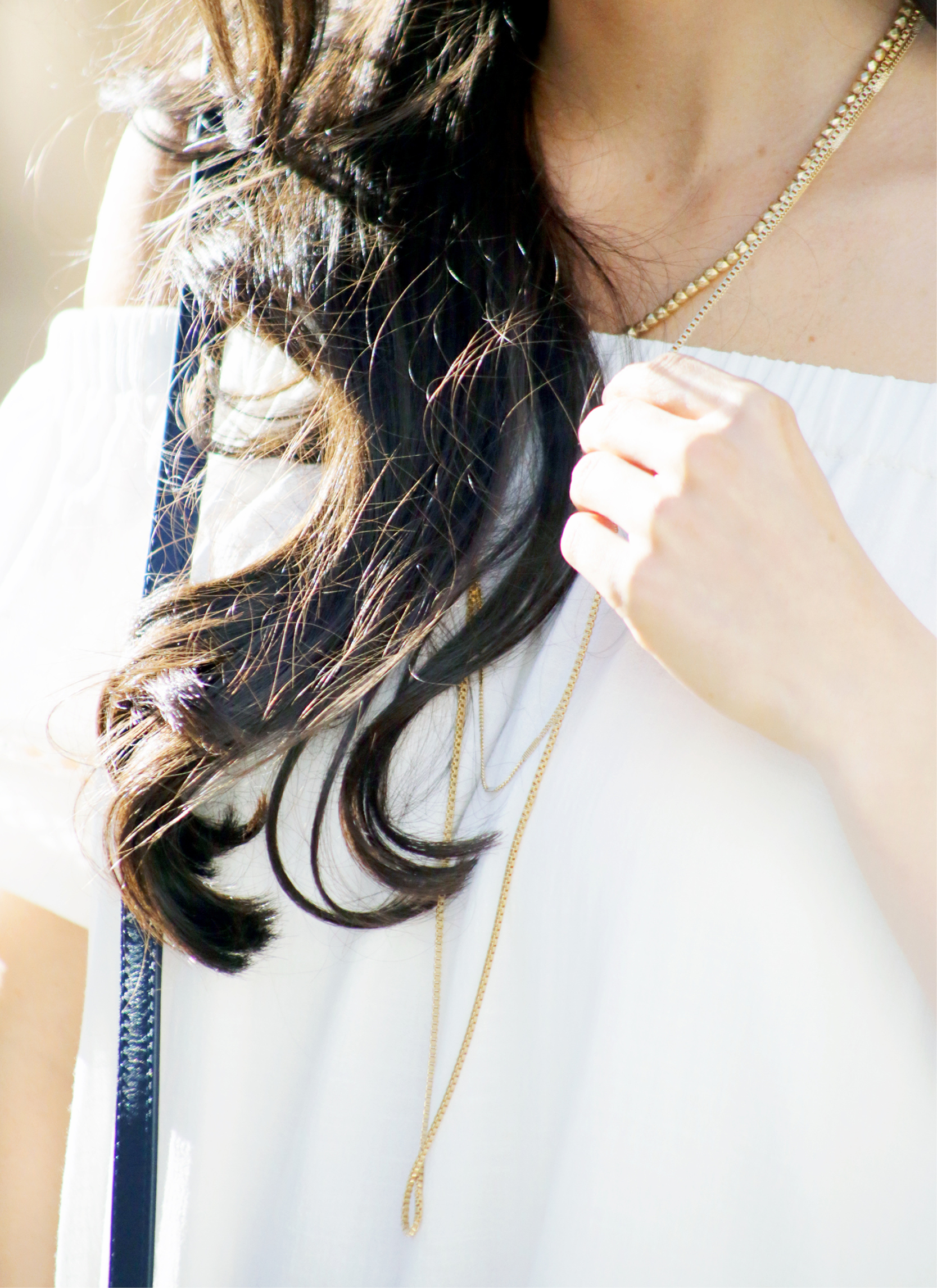 Tanger Outlets Vince Camuto gold layered necklace