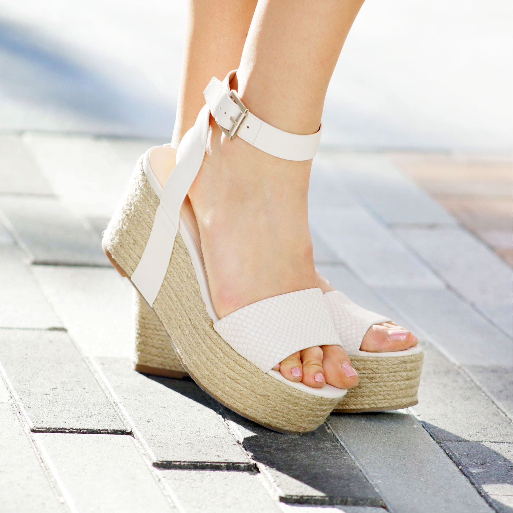 Tanger Outlets Nine West Outlet white espadrilles