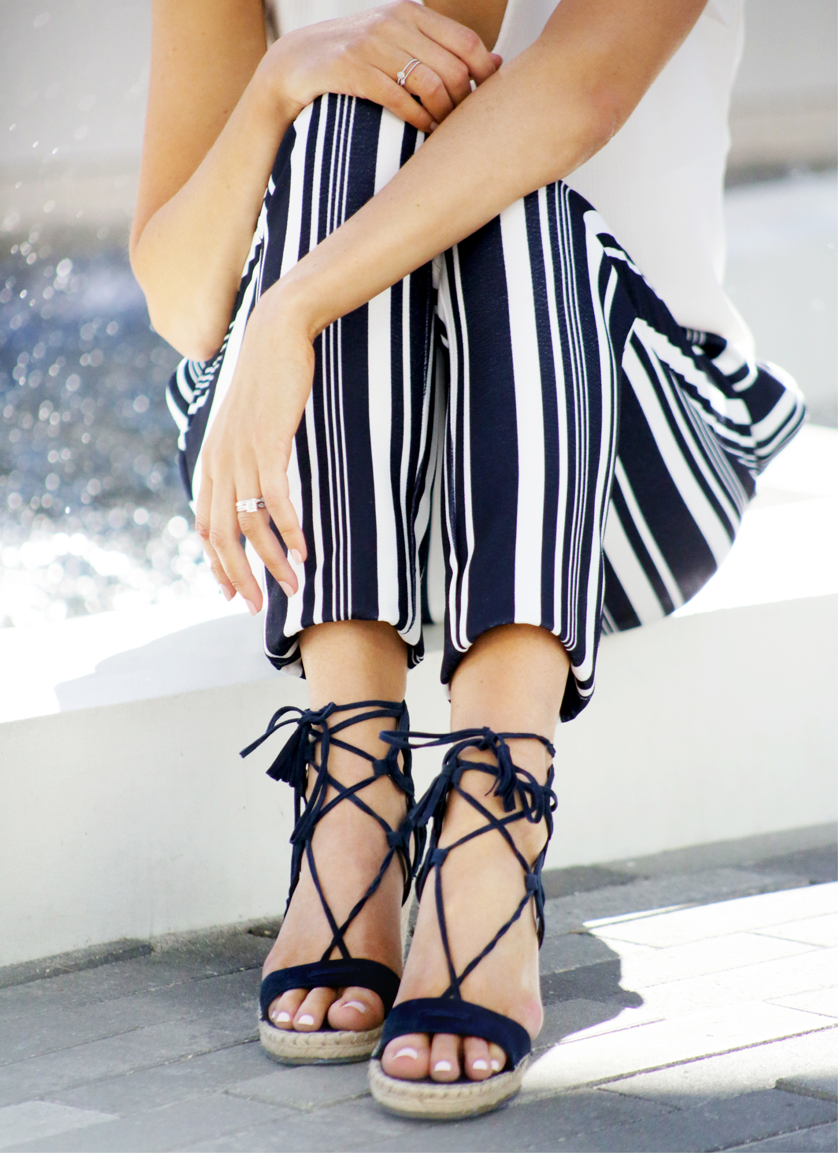 Tanger Outlets Vince Camuto lace up wedges