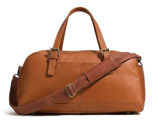 Tanger Outlets Bass Factory Outlet brown weekender duffle bag