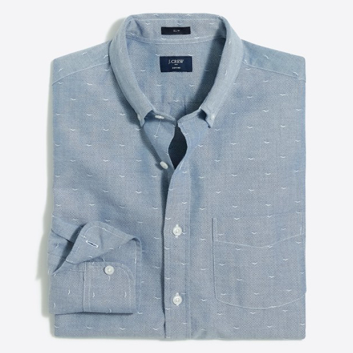 Tanger Outlets J.Crew Factory button-down shirt
