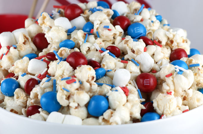 Tanger Outlets July 4th Patriotic Popcorn