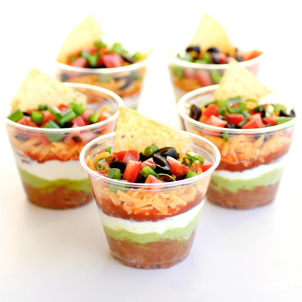 Tanger Outlets July 4th 7-Layer Dip Cups