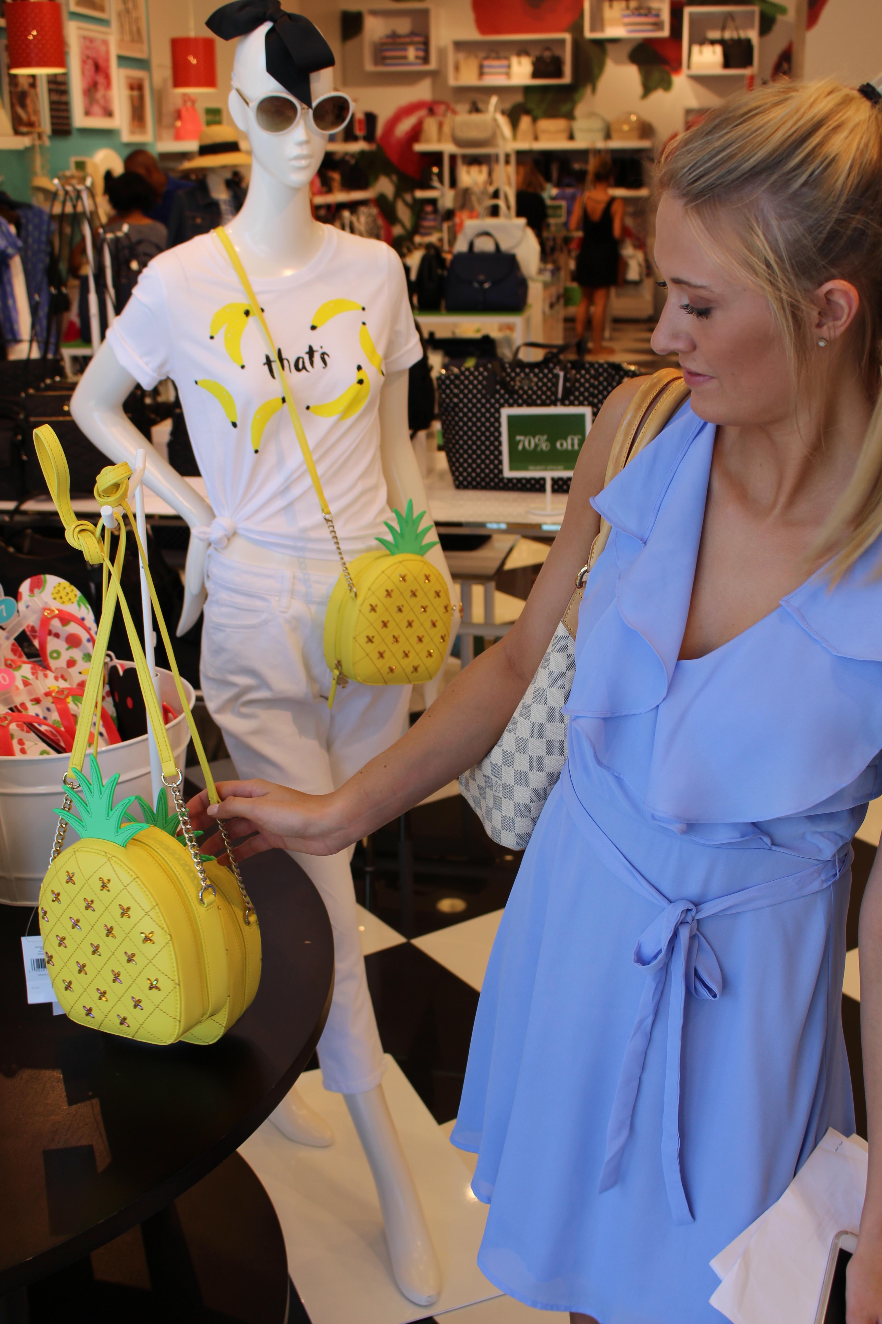 Tanger Outlets francesca's ruffle wrap dress