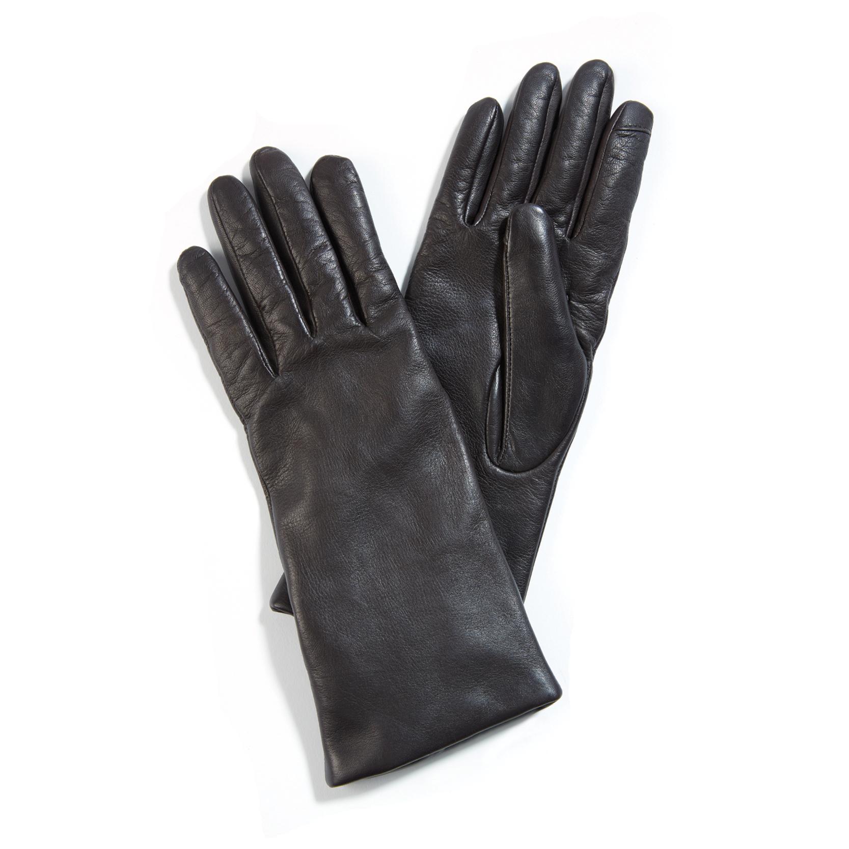 Tanger Outlets Saks OFF 5th dark brown leather gloves
