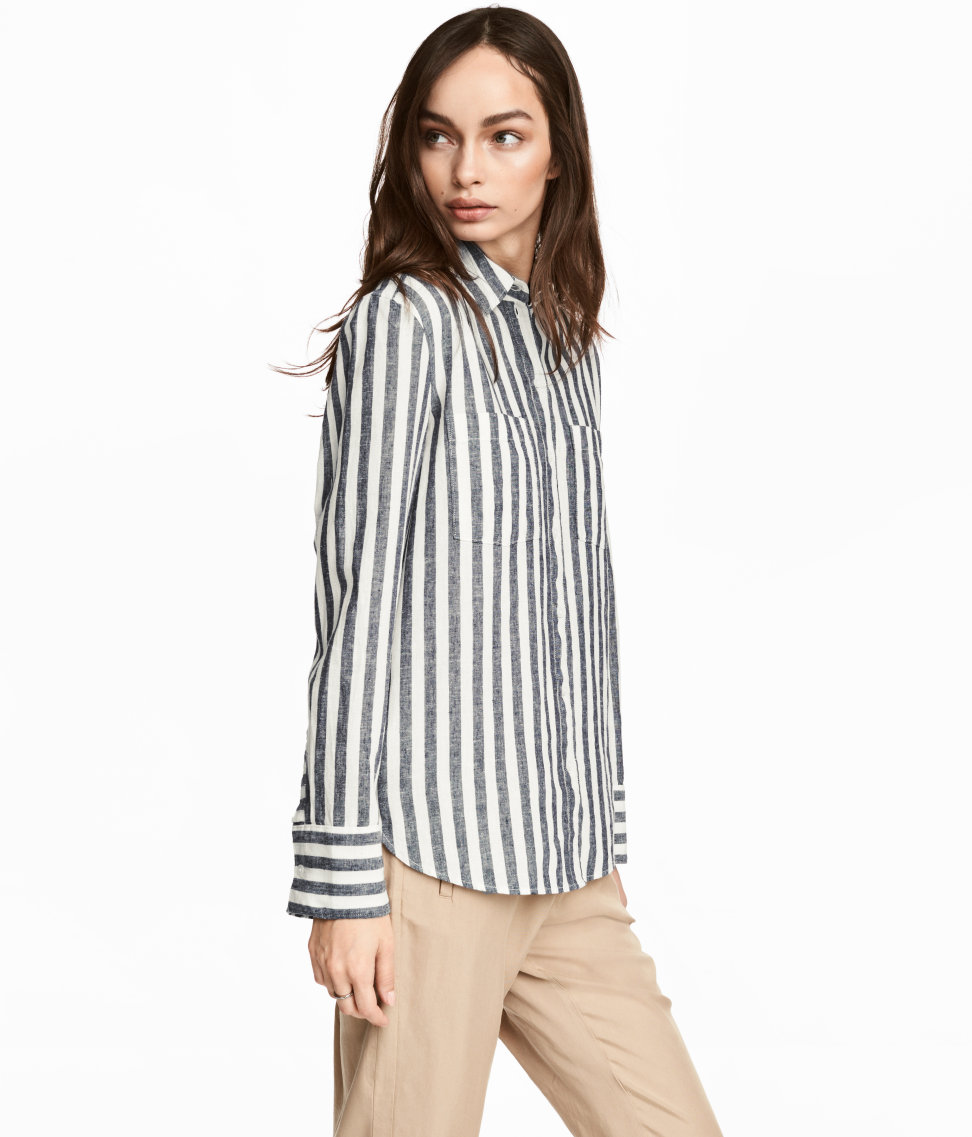 Tanger Outlets H&M striped button up