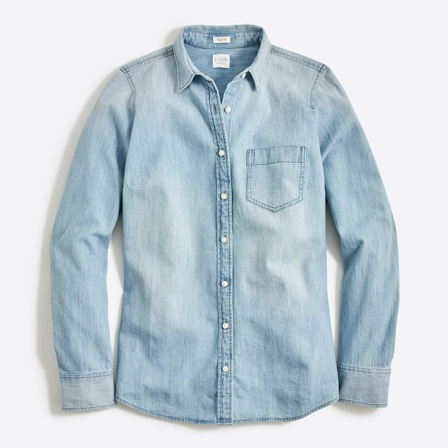 Tanger Outlets J.Crew Factory chambray button up