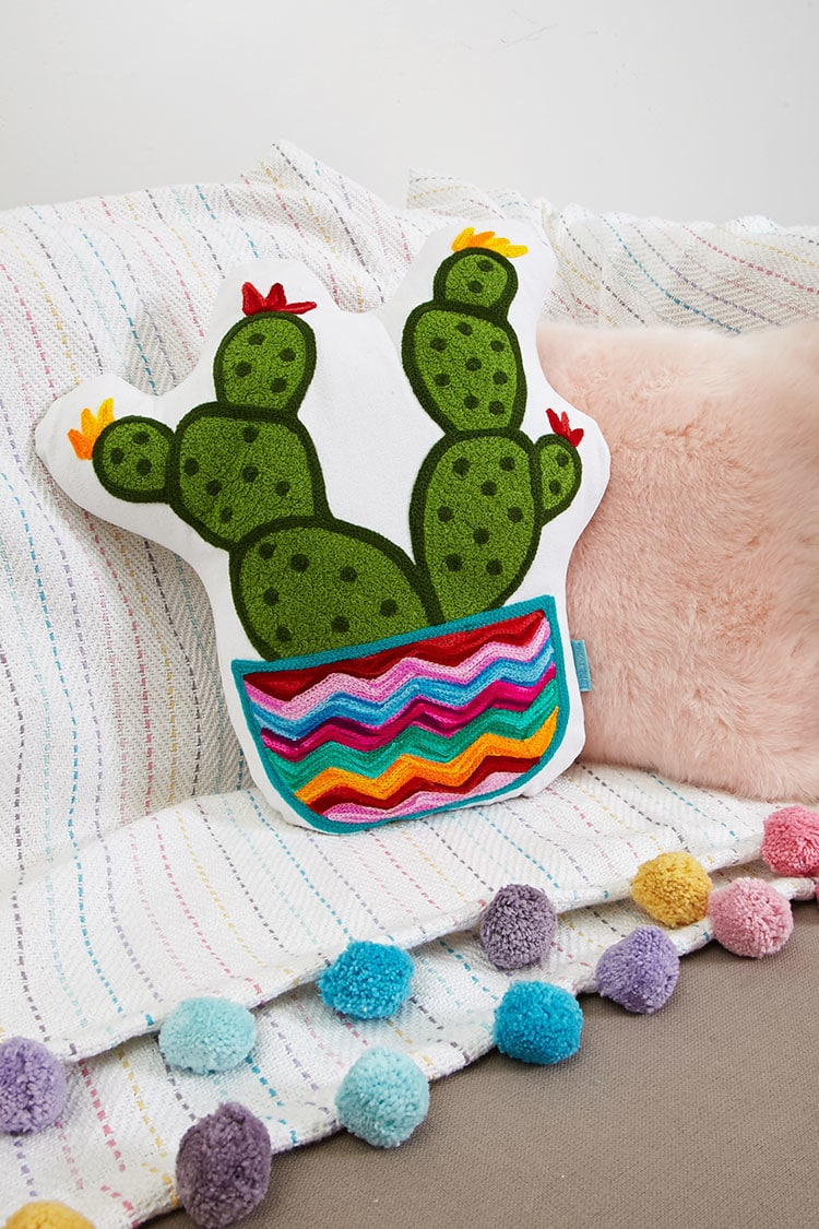 Tanger Outlets Forever 21 cactus throw pillow