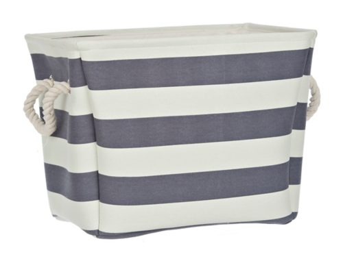 Tanger Outlets Kirkland's striped storage bag