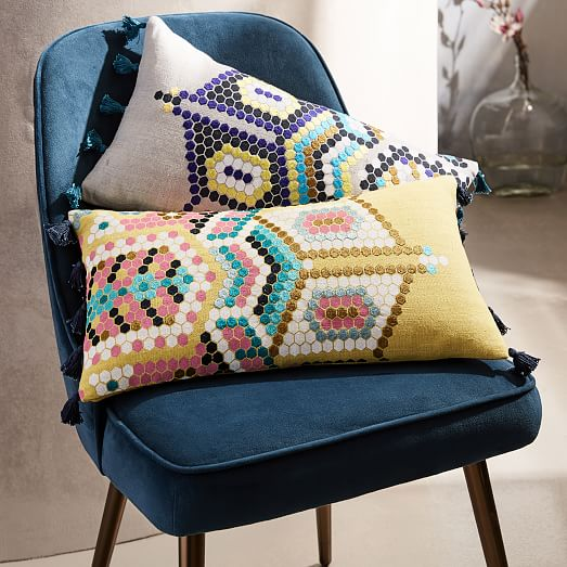 Tanger Outlets West Elm Outlet pixel pillow cover