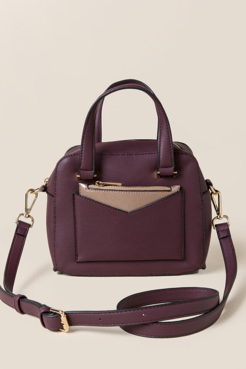 tanger outlets francescas plum satchel purse