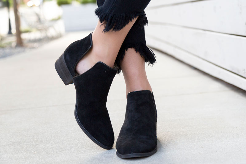 tanger outlets saks off fifth black suede booties