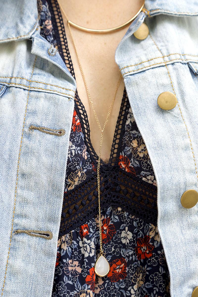 tanger outlets j crew long gold pendant necklace