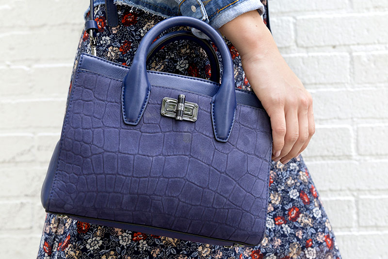 tanger outlets saks off fifth navy suede crossbody purse