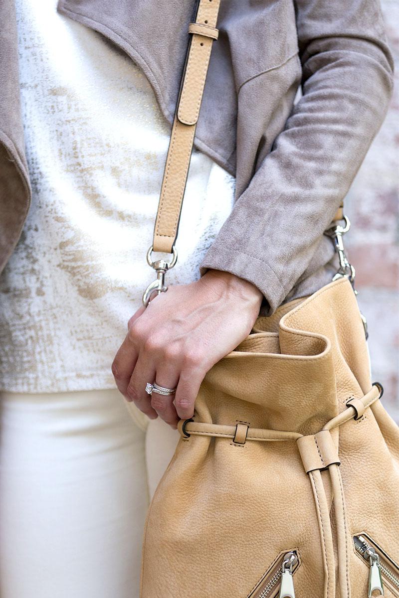 tanger outlets saks off fifth tan crossbody tassel purse