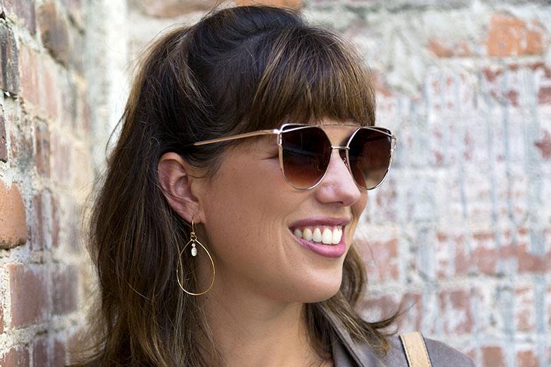 tanger outlets loft rose gold sunglasses