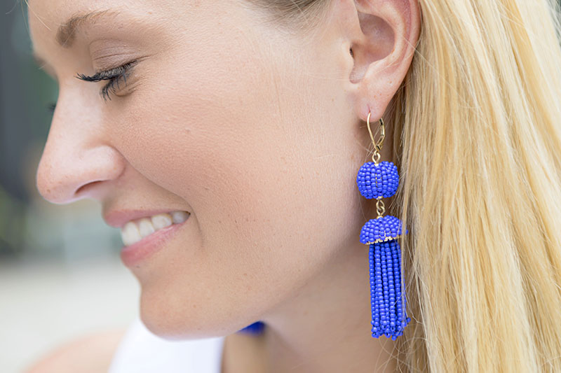tanger outlets j crew beaded tassel earrings