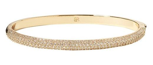 tanger outlets banana republic sparkle hinged bangle bracelet