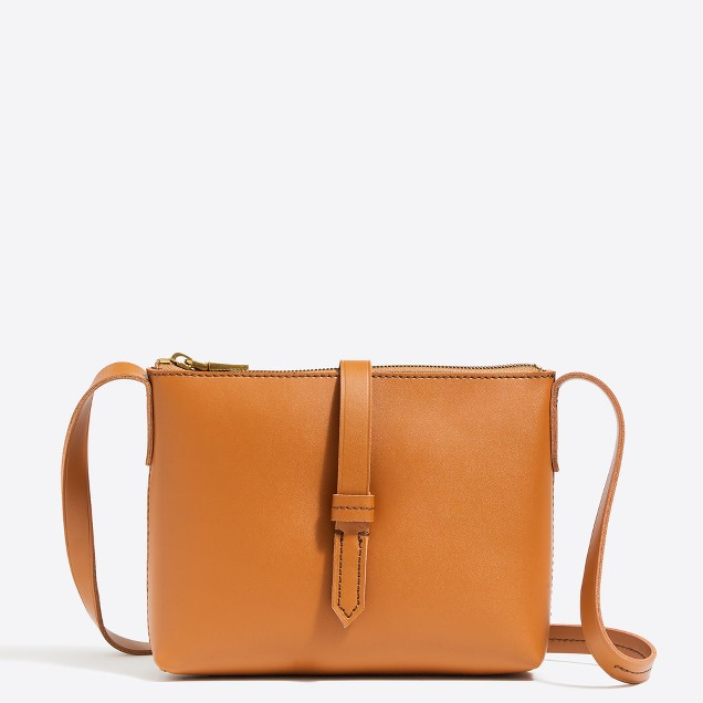 tanger outlets j crew tan crossbody purse