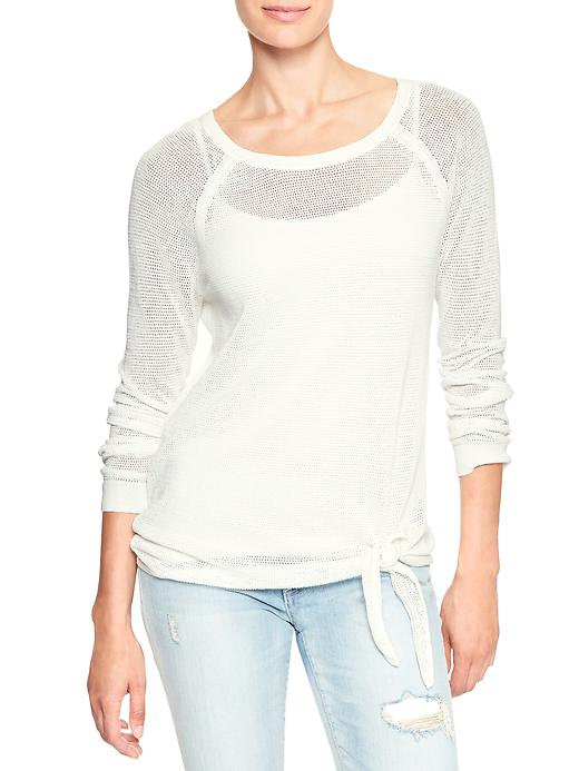 tanger outlets gap white knitted sweater