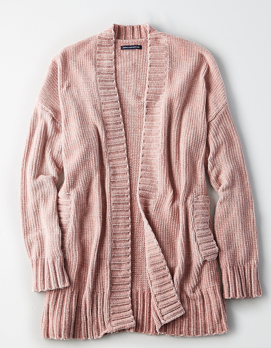 tanger outlets american eagle pink chenille cardigan