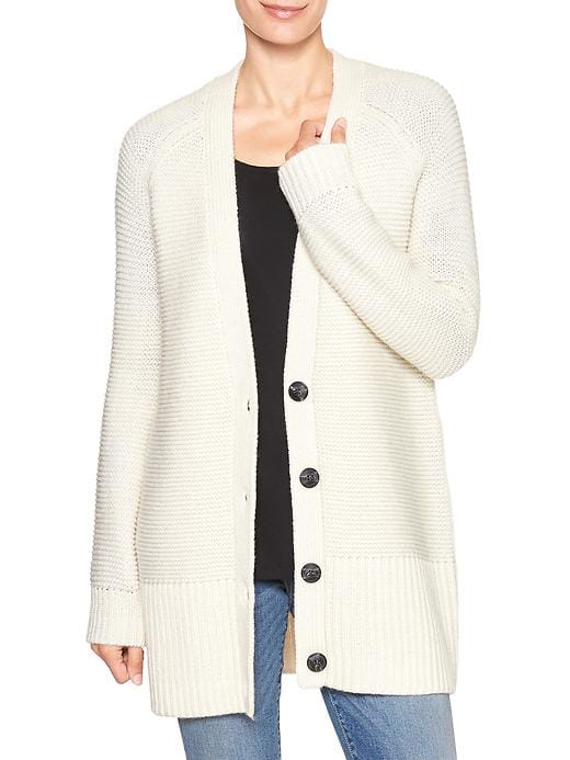 tanger outlets gap cream and button cardigan