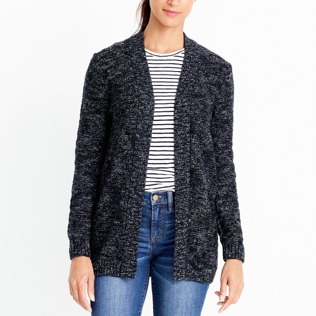 tanger outlets j crew black and grey cardigan
