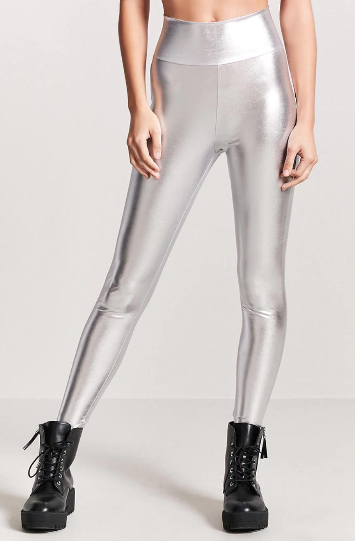 tanger outlets forever 21 metallic high waist leggings