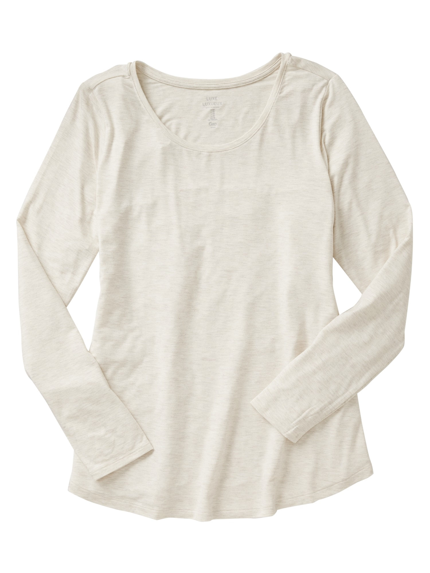 tanger outlets gap cream scoop neck long sleeve tee