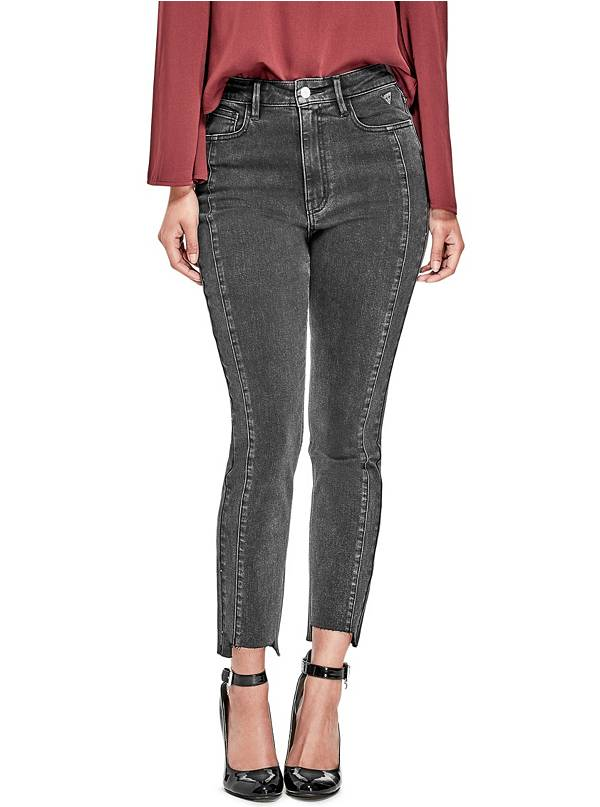 tanger outlets guess a-line cut black edgy jeans