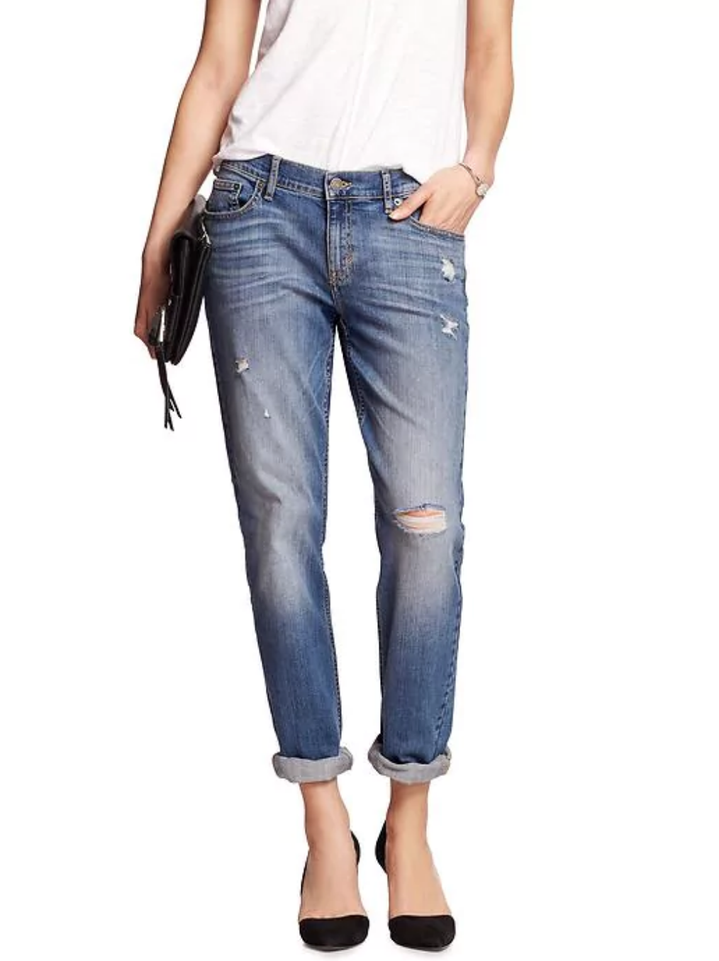 tanger outlets banana republic distressed girlfriend jeans