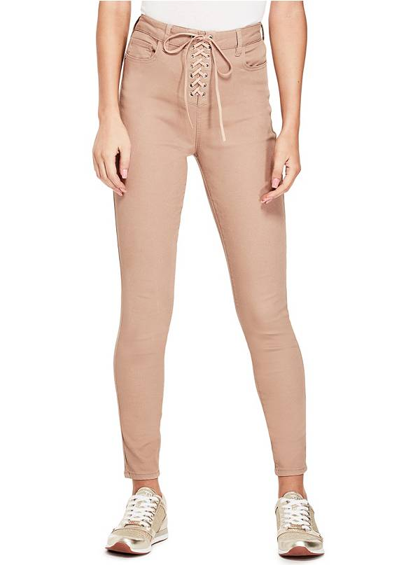 tanger outlets guess lace up skinny jeans