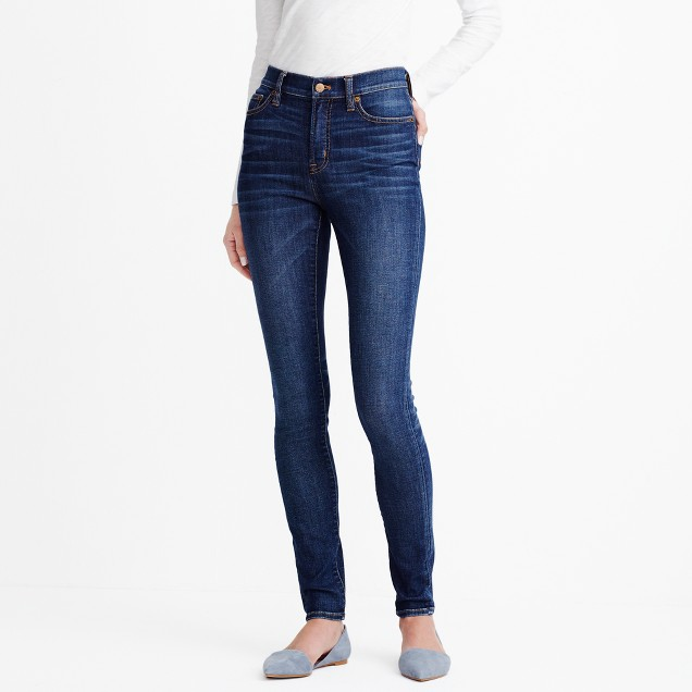 tanger outlets j crew high waist dark wash skinny jeans