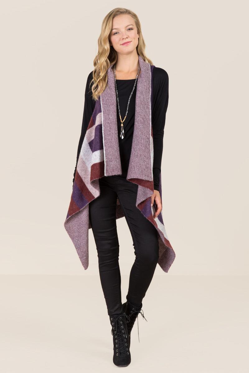tanger outlets francescas a-line color patterned vest