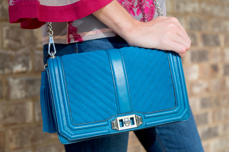 tanger outlets saks off fifth blue foldover crossbody purse