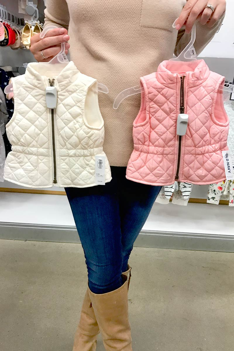 tanger outlets old navy girls puffer vests