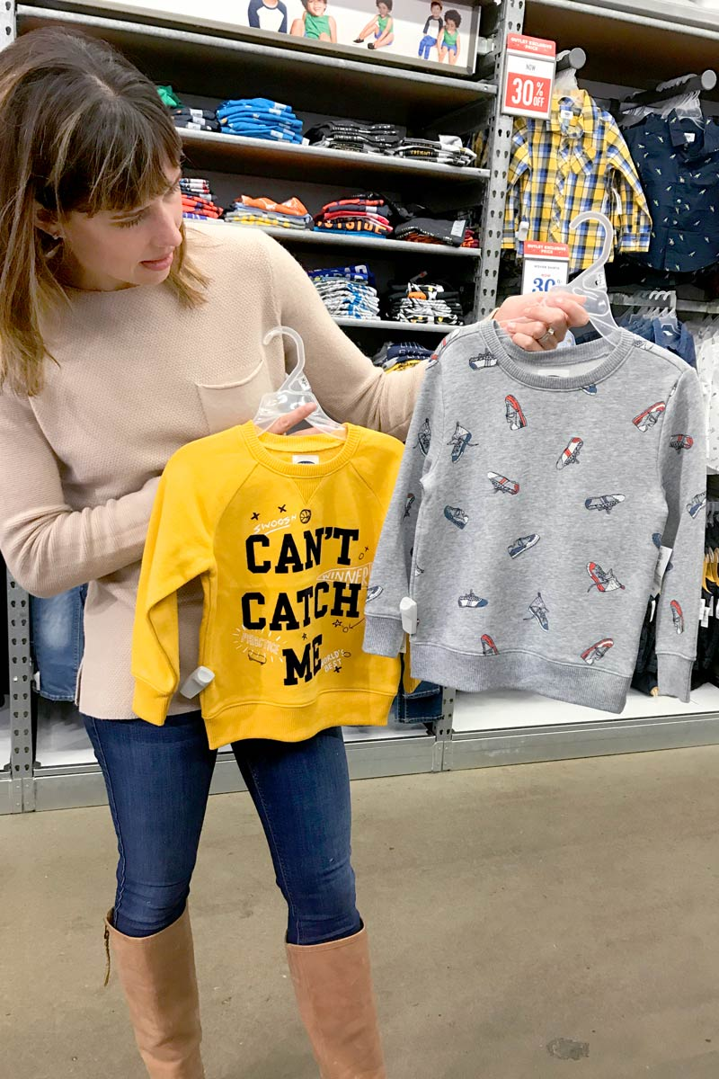 tanger outlets old navy boys graphic sweatshirt