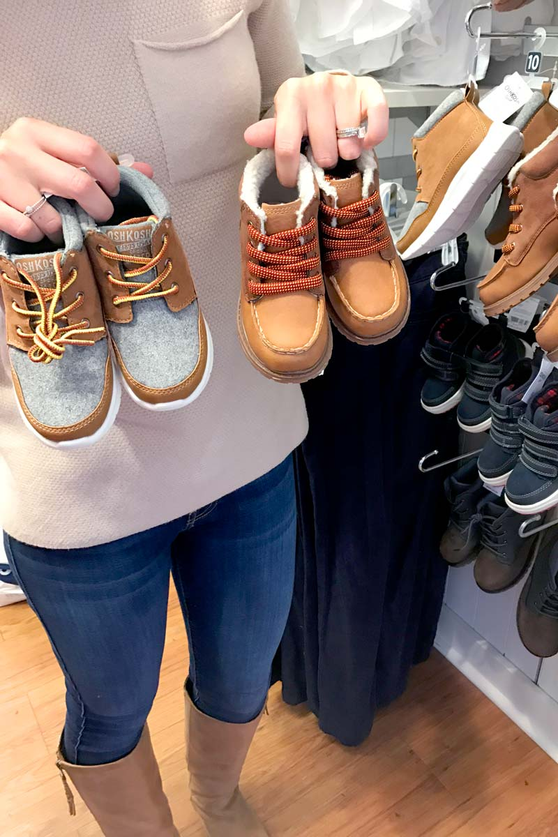 tanger outlets oshkosh boys shoes