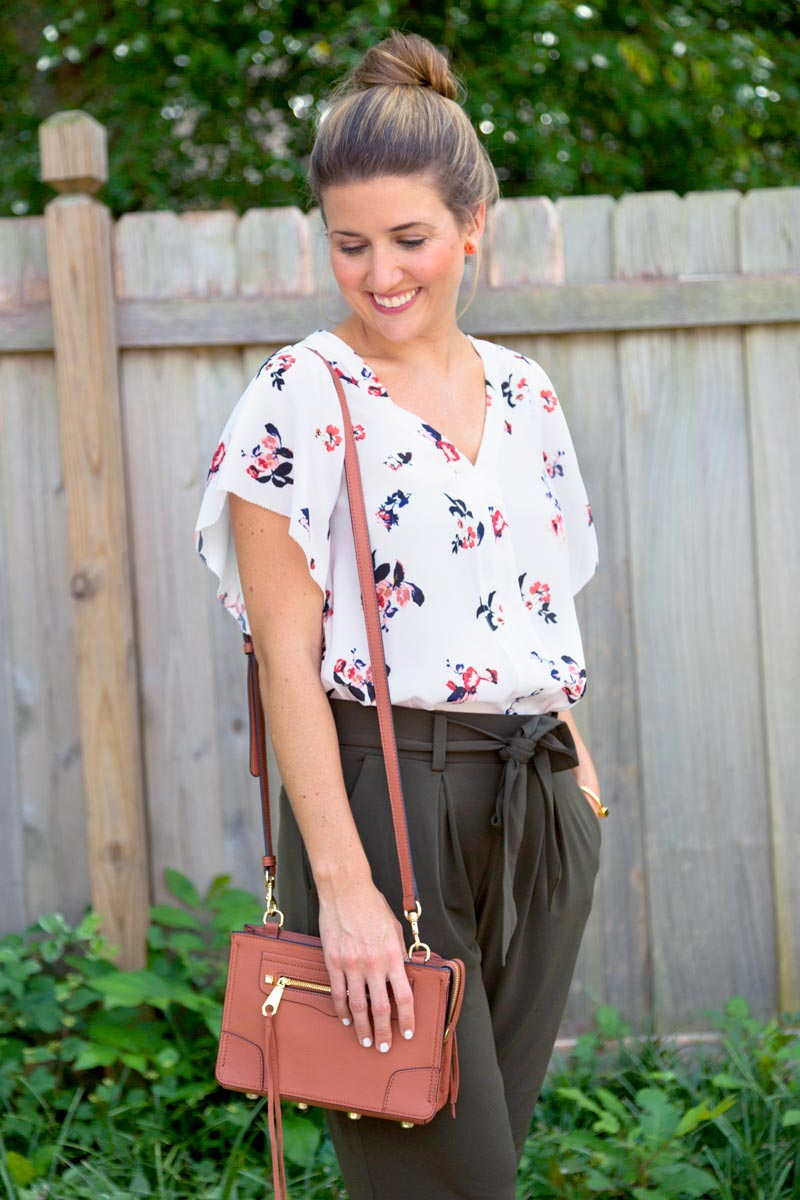 tanger outlets saks off fifth floral blouse
