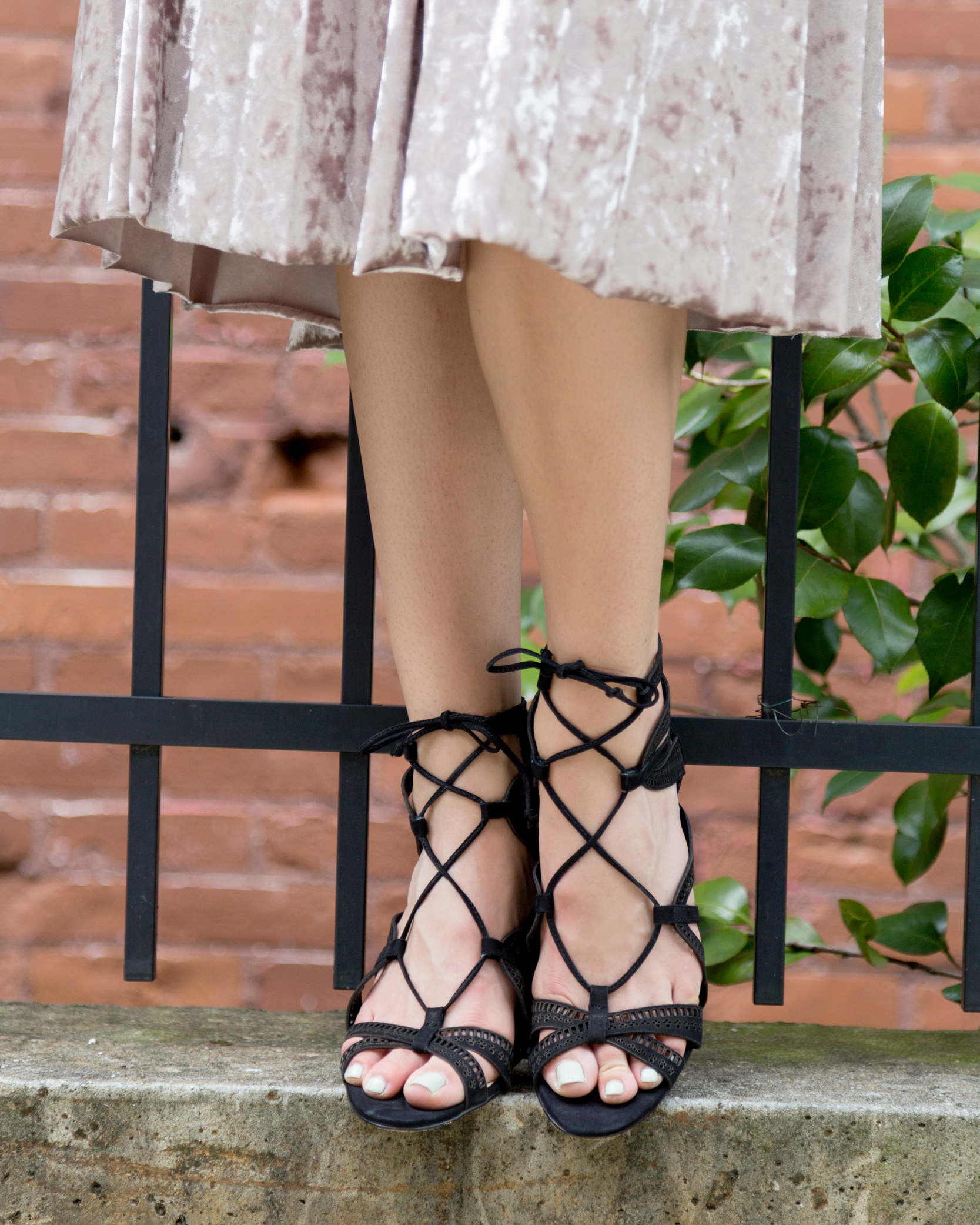 tanger outlets francescas velvet mid-length skirt